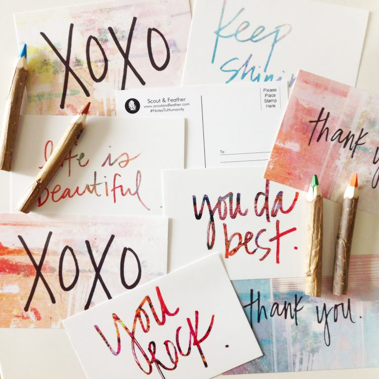 {Giveaway} Notes To Humanity Postcard Pack