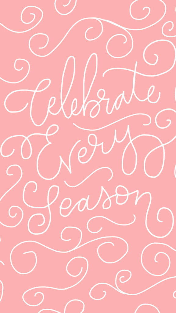 {Free} Desktop & iPhone Wallpapers // Celebrate Every Season. | thefreewoman.com