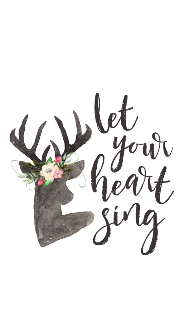 {Free} Desktop & iPhone Wallpapers // Let Your Heart Sing   thefreewoman.com